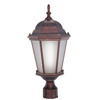 Livex Limited 1 Light Outdoor Post Mount in Weathered Brick 9027-18