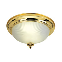 Livex Limited 2 Light Flush Mount in Polished Brass 9041-02