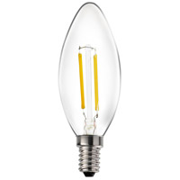 Livex 912022X60 Signature LED B10 Torpedo E12 Candelabra Base 2 watt 2700K Light Bulb Pack of 60