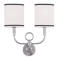 Livex 9122-91 Signature 2 Light 16 inch Brushed Nickel Wall Sconce Wall Light