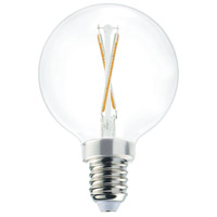 Signature LED G16.5 Globe E12 Candelabra Base 2 watt 3000K Light Bulb, Pack of 10
