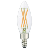 Signature LED B10 Torpedo E12 Candelabra Base 4 watt 2700K Light Bulb, Pack of 60