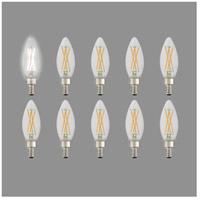 Livex 920411 Signature LED B10 Torpedo LED E12 Candelabra Base 4 watt 3000K Light Bulb, Pack of 10