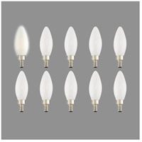 Livex 920413 Signature LED B10 Torpedo LED E12 Candelabra Base 4 watt 3000K Light Bulb, Pack of 10