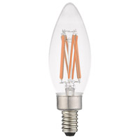 Livex 920512X10 Signature LED B10 Torpedo E12 Candelabra Base 5.3 watt 3000K Light Bulb Pack of 10