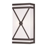 Livex 9415-07 Signature 2 Light 7 inch Bronze ADA Wall Sconce Wall Light