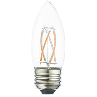 Livex 960415X60 Signature LED B11 Torpedo E26 Medium Base 4 watt 3000K Light Bulb Pack of 60