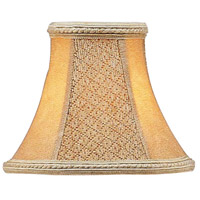 Livex S120 Chandelier Shade Tan Suede Bell Clip Shade Shade