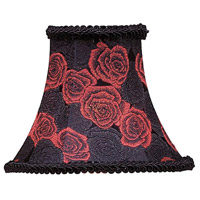 Livex S127 Chandelier Shade Black/Red Rose Shade
