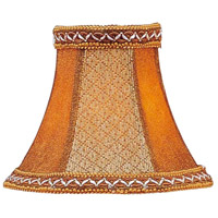 Chandelier Shade Tan/Brown Suede Bell Clip Shade with Fancy Trim Shade