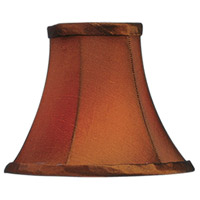 Chandelier Shade Brown Silk Shade