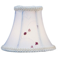 Livex S221 Chandelier Shade White Embroidered Floral Shade photo thumbnail