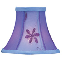 Chandelier Shade Violet Embroidered Floral Shade
