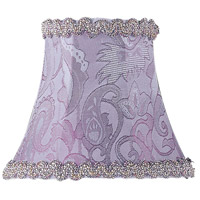 Chandelier Shade Periwinkle Damask Shade