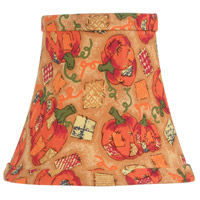 Chandelier Shade Pumpkin Harvest Silk Bell Clip Shade Shade