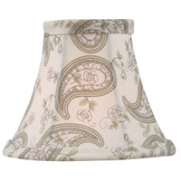 Livex S321 Chandelier Shade Paisley Design Silk Bell Clip Shade Shade photo thumbnail