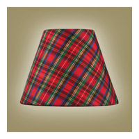 Chandelier Shade Plaid Red Shade