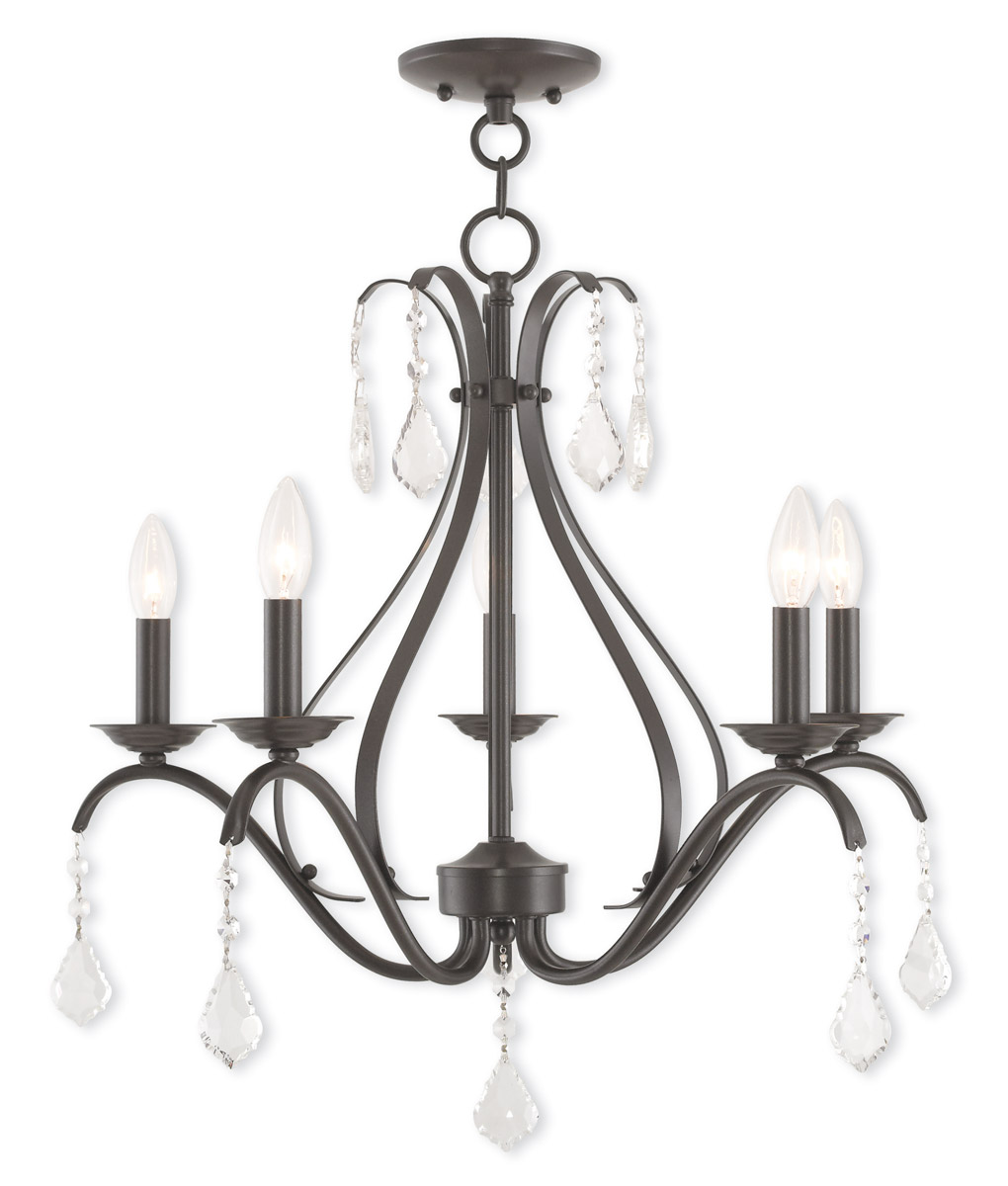 Livex lighting 40845 92 caterina 5 light chandelier english bronze picture 1 of 7 arubaitofo Image collections