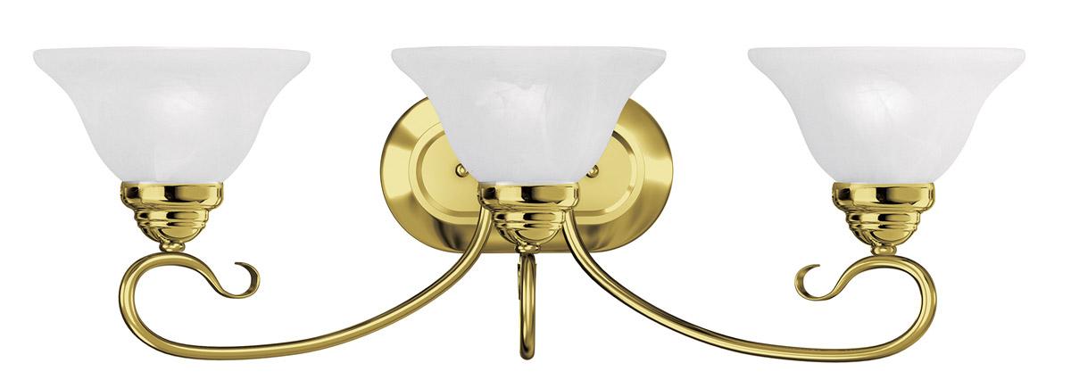 Livex 2 Light Bathroom Vanity Lighting Fixture Brushed: Polished Brass 2 Light Livex Coronado Wall Sconce Bath