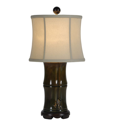 Mariana Imports Signature 1 Light Table Lamp in Geen/Brown/Rust Ceramic 330016 photo