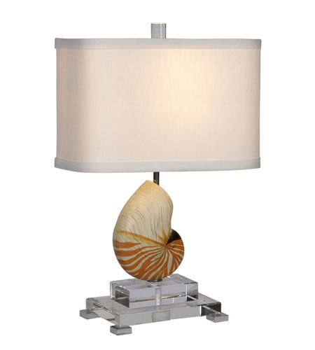 Mariana Imports Signature 1 Light Table Lamp in Nautilus Shell/Optic Crystal 690058 photo