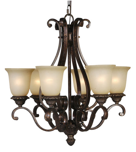 Mariana Imports Sonoma 6 Light Chandelier in Tortoise 770686 photo