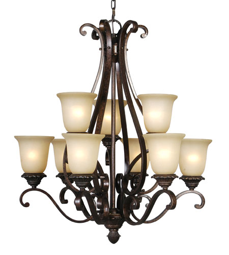 Mariana Imports Sonoma 9 Light Chandelier in Tortoise 770986 photo