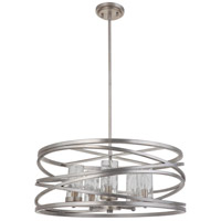 Mariana 100514 Finley 5 Light 24 inch Silver Leaf Pendant Ceiling Light