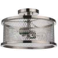 Mariana 101345 Thames 2 Light 15 inch Satin Nickel Semi Flush Mount Ceiling Light