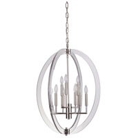 Mariana 122417 Regal 9 Light 24 inch Polished Nickel Chandelier Ceiling Light