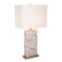Mariana Sea Shells by the Shore 1 Light Table Lamp in Mother of Pearl and Brass 125012