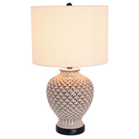 Mariana Conifer Cone 1 Light Table Lamp in Ceramic 125014