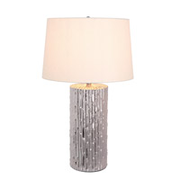 Signature 27 inch 100 watt Metallic Ceramic Table Lamp Portable Light
