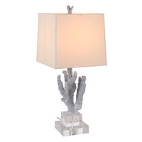 Mariana Coral 1 Light Table Lamp in Metallic Silver 125020
