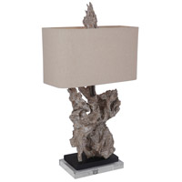 Mariana 125027 Dresden 29 inch 100 watt Ivory Brown Black Table Lamp Portable Light