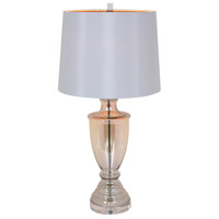 Whitney 32 inch 100 watt Clear/Gold Flexed Table Lamp Portable Light