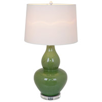 Lilly 31 inch 100 watt Green Table Lamp Portable Light