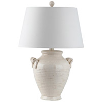 Signature 27 inch 100 watt White Ceramic Table Lamp Portable Light