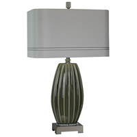 Delilah 29 inch 150 watt Gray Table Lamp Portable Light
