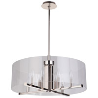 Mariana 132417 Regal 8 Light 24 inch Polished Nickel Pendant Ceiling Light