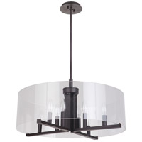 Mariana 132483 Regal 8 Light 24 inch Bronze Pendant Ceiling Light