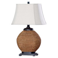 Mariana Signature 1 Light Table Lamp in Rattan 140000