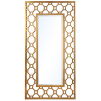 Achilles 58 X 33 inch Gold Leaf Mirror Home Decor