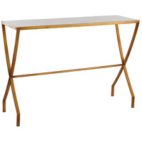 Mason 48 X 15 inch Gold Leaf Console Table Home Decor