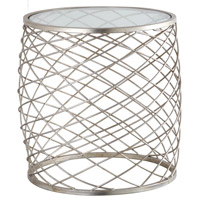Criss Cross 20 inch Silver Leaf Side Table Home Decor
