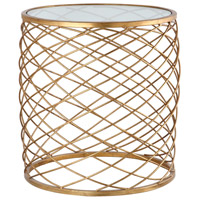 Criss Cross 20 inch Gold Leaf Side Table Home Decor