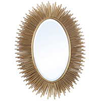 Athena 37 X 28 inch Gold Mirror Home Decor