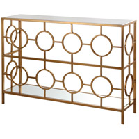 Fabian 49 X 13 inch Gold Leaf Console Table Home Decor