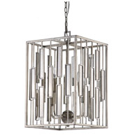 Shelby 4 Light 15 inch Silver Leaf Pendant Ceiling Light
