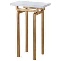Mariana 152028 Jaxon 13 X 8 inch Gold Leaf Side Table Home Decor, Marble Top